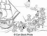 Ship Clipart Coloring Peg Illustrations Vector Pirate Kraken Pirates Island Leg Clip Illustration Grid Fotosearch Canstockphoto Eps sketch template