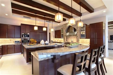 Modern Kitchen Design And Warm, Contemporary Kitchen