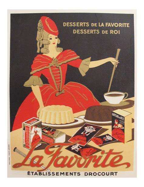 french vintage food poster la favorite baking