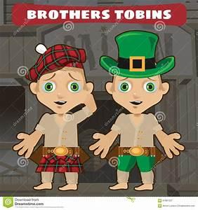 Fictional Cartoon Character - Brothers Stock Vector ...