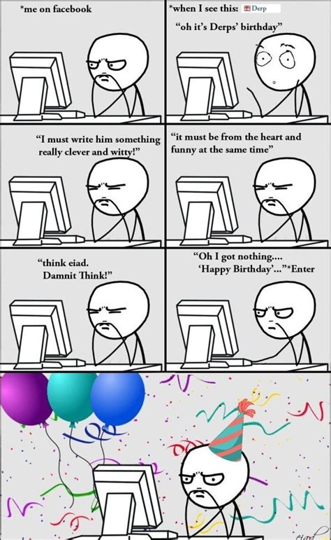 Make Meme Comic - rage comics happy birthday www funny pictures blog com rage comics pinterest rage