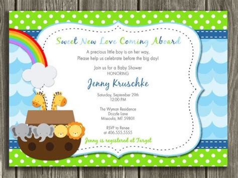 noahs ark baby shower noah 39 s ark baby shower noah 39 s ark baby shower invitation