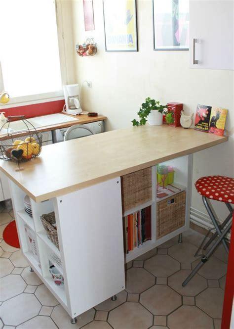 etagere cuisine ikea transformer une étagère ikea en un îlot de cuisine 20