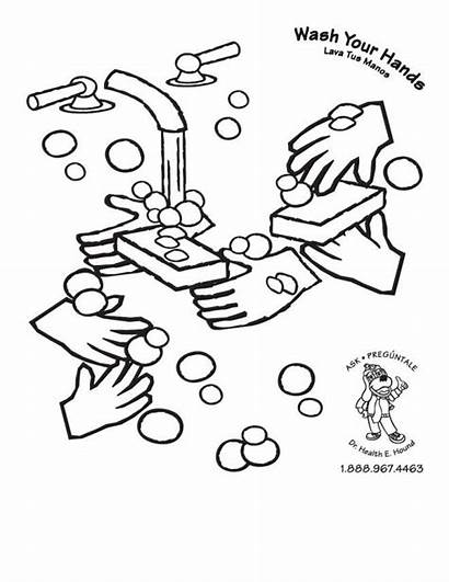 Coloring Washing Colouring Hands Pages Wash Hand