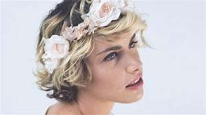Couronne Fleur Cheveux Mariage : coiffure mariage cheveux court couronne fleur motortrends ~ Melissatoandfro.com Idées de Décoration