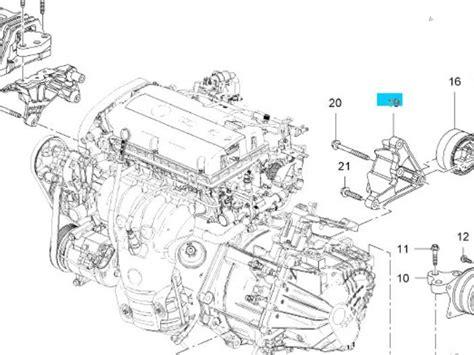 used opel insignia 1 8 16v ecotec engine mount 13228285