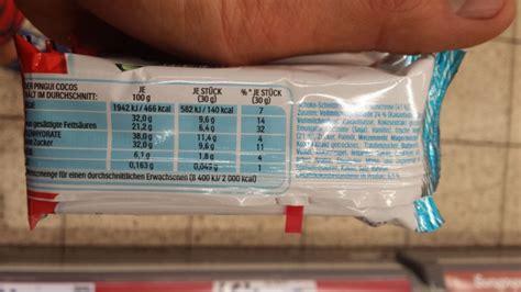 kinder pingui cocos kalorien naehrwerte produktdaten