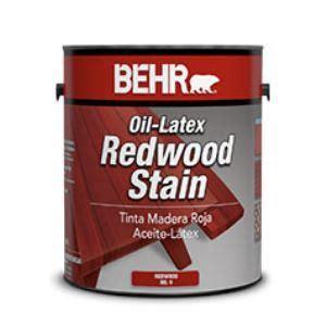 behr oil latex redwood stain   behr process