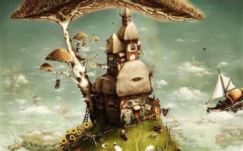 tree house art fantasy wallpaper creative  fantasy