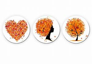 Glasbild 3 Teilig : glasbild herbst set rund herbstlicher bl tterwald als dekoration wall ~ Orissabook.com Haus und Dekorationen