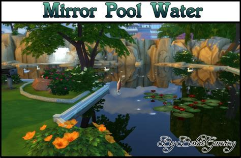Mirror Pool Water by Bakie at Mod The Sims » Sims 4 Updates