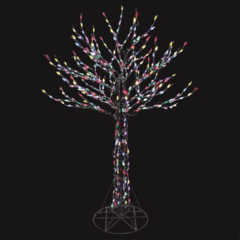 home accents 6 ft led deciduous tree sculpture