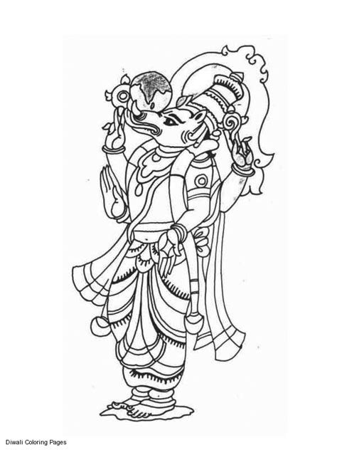 hindu coloring pages getcoloringpagescom