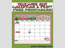 December 2014 Calendar is here Yep! inkhappi