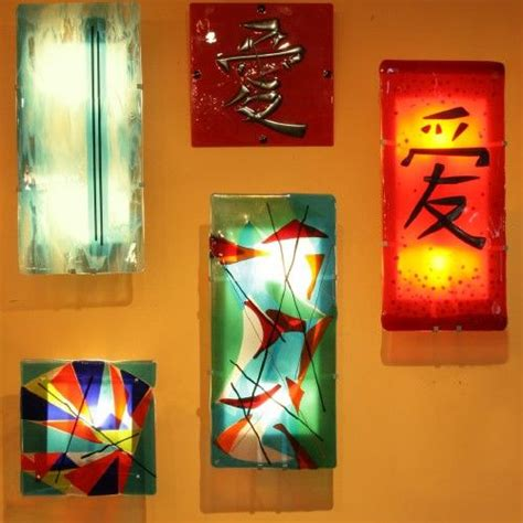 bskdesign fused glass lighting 04 these wall sconce kits