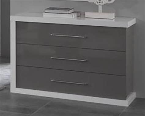 image cuisine moderne commode 3 tiroirs ancona laque blanc gris