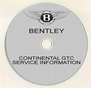 2012 Bentley Continental Gtc Service Manual Cd