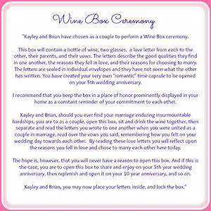 the wine box ceremony ceremony details grace and With wedding ceremony script samples