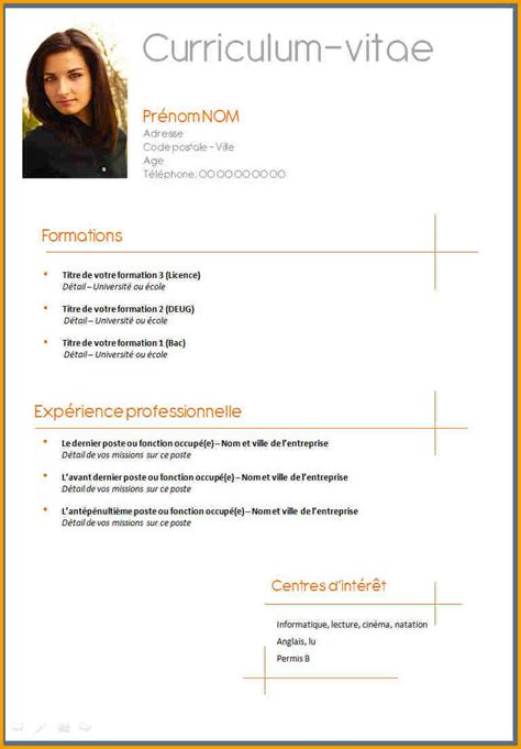 Comme Faire Un Cv by R 233 Aliser Un Cv Cv Curriculum Vitae Exemple Psco
