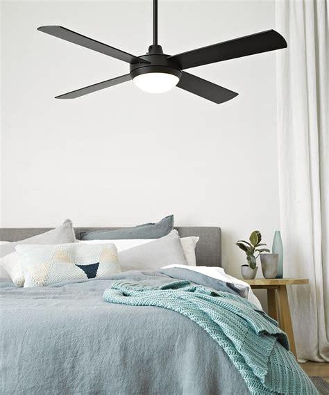 Bedroom Fan Lights by Futura Eco 132cm Fan With Led Light In Black Ceiling