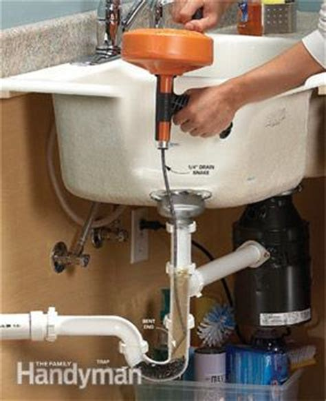 unclogging a kitchen sink unclog a kitchen sink the family handyman 6495