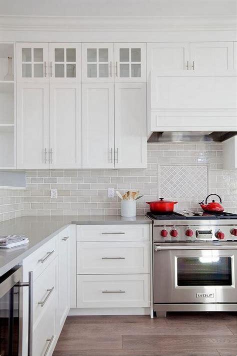 White Kitchen Cabinets Butcher Block Counter