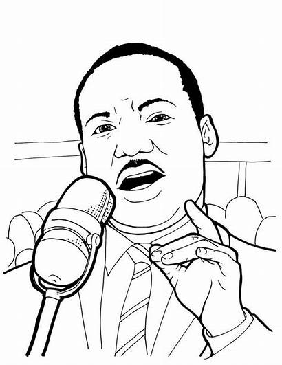 Luther Martin King Jr Coloring