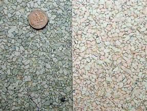 linen and terrazzo look vinyl sheet flooring in aqua and other neutrals retro renovation