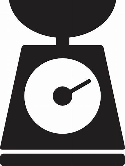 Scale Clipart Icon Weight Vector Kitchen Clip