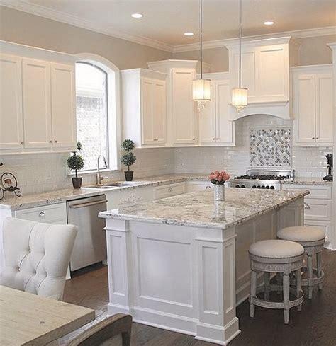 Granite Countertop Kitchen Island by 30 White Kitchen Design Ideas For Modern Home