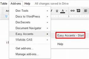 How to insert accents in a google docs document for Google docs add highlight