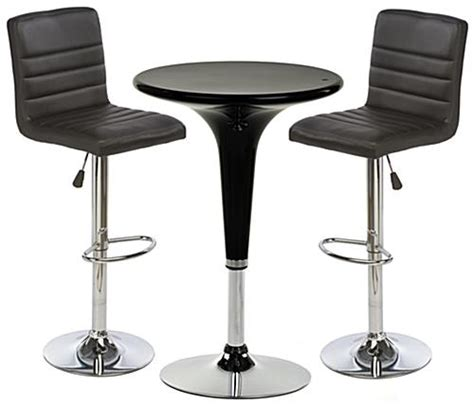 black gas lift chair and table set includes 2 cushioned