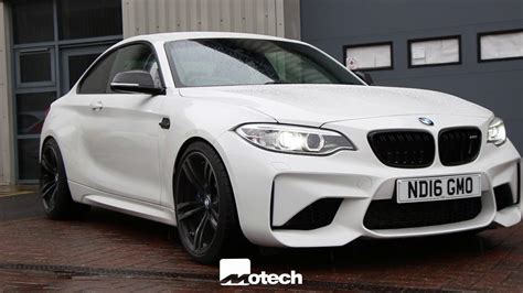 bmw f87 m2 now eibachs springs with 12mm wheel spacers motech performance youtube
