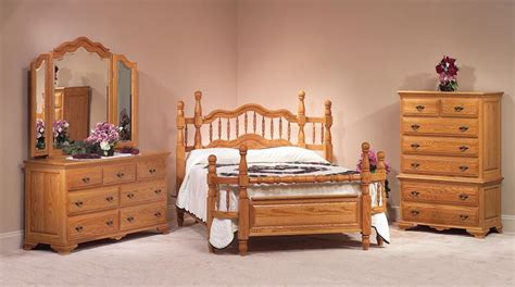 Oak Wrap Around Four Piece Bedroom Set From Dutchcrafters