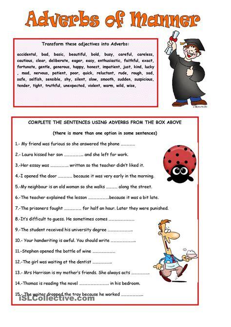 edublog efl adverbs  manner