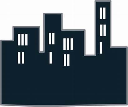 Icon Gedung Vektor Clipart Skyline Clip Hitam