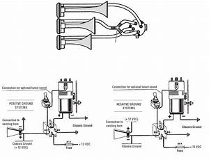 Harbor Freight Three Trumpet 12v Air Horn Set With Compressor Product Manual 94862 Horns