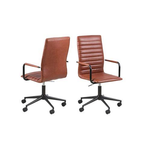 cognac bureau chaise de bureau horda couleur cognac leen bakker