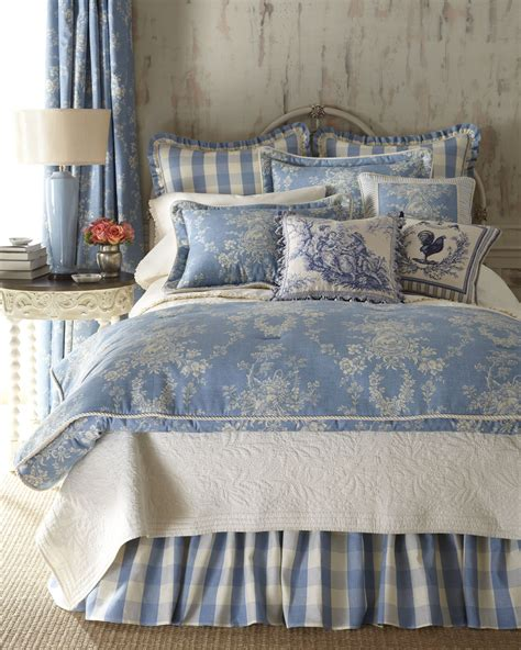 blue toile bedding sherry kline home collection country manor bedding