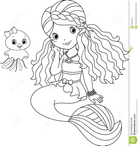 coloring pages  coloring pages  outline  mermaid