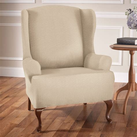 wing chair slipcovers raise the bar stretch wing chair slipcovers
