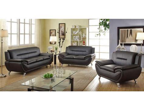 Black Leather Sofa Set Price by Mina Modern Black Leather Sofa Set