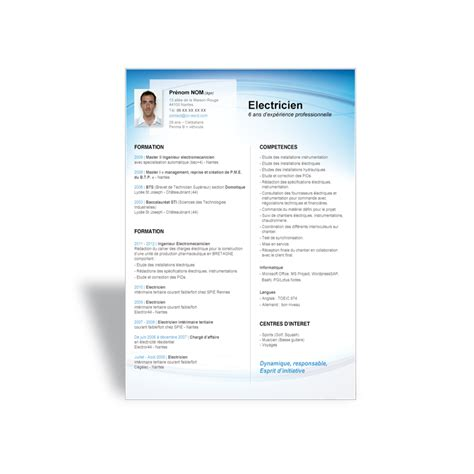 Type Cv Word by Exemple De Cv Type 224 Remplir Au Format Word