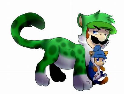 Cat Luigi Mario Weegie Baconbloodfire Jr Deviantart