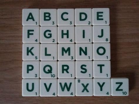 Scrabble Tile Distribution Uk by Scrabble Tiles Font Current Font Identification