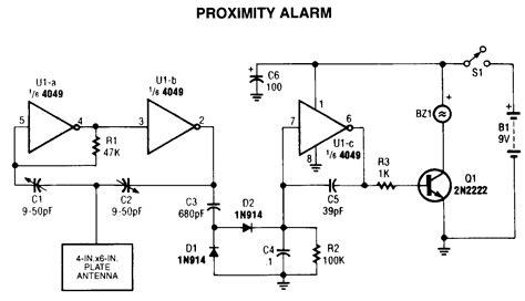 Proximity Alarmcircuit Project Under Repository Circuits