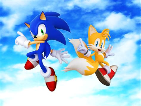Sonic And Tails Ii 3d Blue Sky By 9029561 On Deviantart