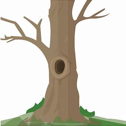 Trunk Tree Hole Clip Middle Clipart Vector