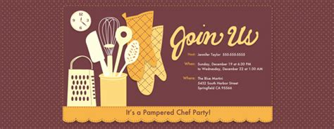 pampered chef invite ideas