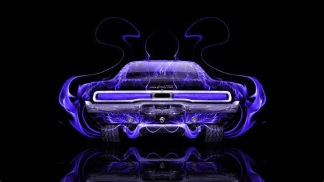 dodge charger muscle retro  fire abstract car
